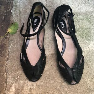 NEW BLOCH PEEP TOE SANDALS WITH ANKLE STRAP